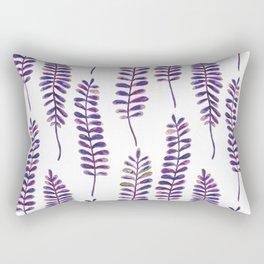 Watercolour Fern Pattern | Purple and Gold Rectangular Pillow