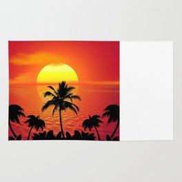 Tropical Sunset Holiday Rug