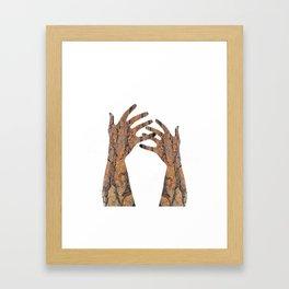 In Your Hands Framed Art Print