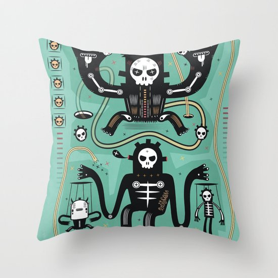 Chamanistik in blue Throw Pillow