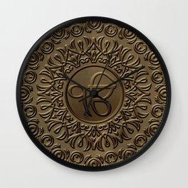Decorative Ek Onkar / Ik Onkar  embossed on gold Wall Clock