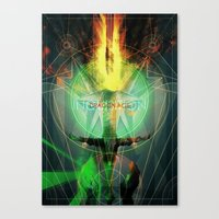 dragon age inquisition Canvas Prints featuring Inquisition by Lazare Gvimradze