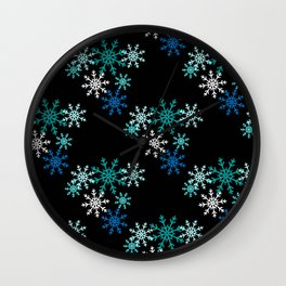 Ice and Snow Wall Clock