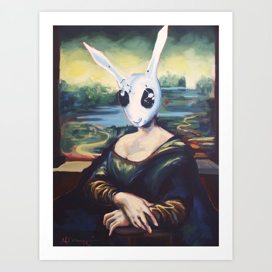 Rabbit Lisa Art Print