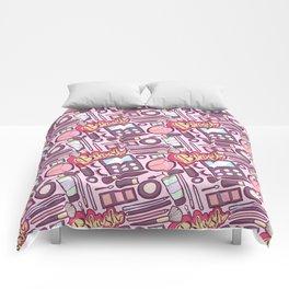 Makeup Print Comforters