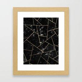 Black Marble Gold Geometric Glam #1 #geo #decor #art #society6 Framed Art Print