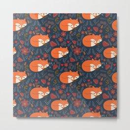 sleeping foxes Metal Print
