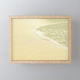 beach sparkling golden sand Framed Mini Art Print