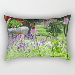 Butterfly Garden Rectangular Pillow