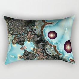 Shadow Blues Fractal Rectangular Pillow