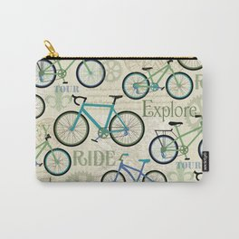 Bicycle Journey Blue Carry-All Pouch