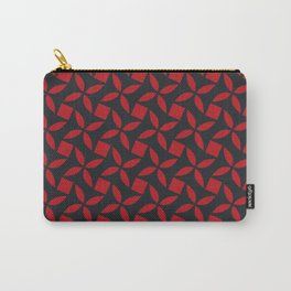 SPINNER - bright red on midnight navy blue Carry-All Pouch