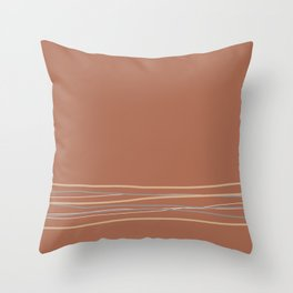 Sherwin Williams Cavern Clay Warm Terracotta SW 7701 with Scribble Lines Bottom in Accent Colors Throw Pillow
