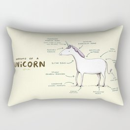 Anatomy of a Unicorn Rectangular Pillow