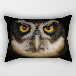 Trading Glances with a Spectacled Owl Rectangular Pillow