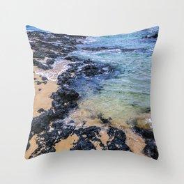Paradise Island Beach Cove in Heavenly Hawaii Throw Pillow