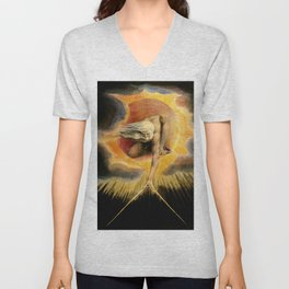 "William Blake ""Urizen depicted in Blake's watercoloured etching The Ancient of Days."" Unisex V-Neck"