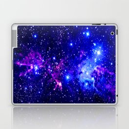 Fox Fur Nebula Galaxy blue purple Laptop & iPad Skin