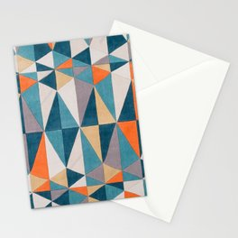 collage Style Abstract Art Stationery Cards