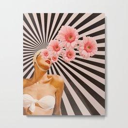Blossom flower girl Metal Print