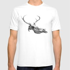 Deer Skull MEDIUM Mens Fitted Tee White