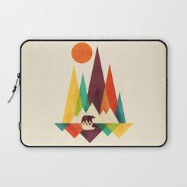 Bear In Whimsical Wild Laptop Sleeve