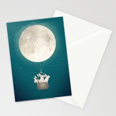 moon bunnies Stationery Cards