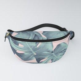 Tropical Summer Jungle Leaves Dream #3 #tropical #decor #art #society6 Fanny Pack