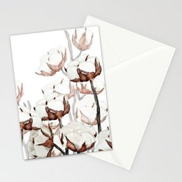 cotton field Stationery Cards