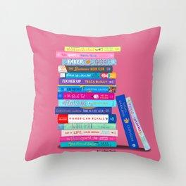 Romance Books Throw Pillow