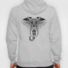 ELEPHANT head. psychedelic / zentangle style Hoody