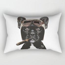 French bulldog Patrol Rectangular Pillow