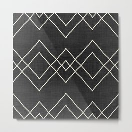 Nudo in Black and White Metal Print