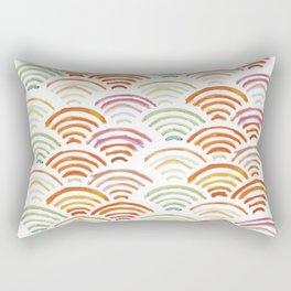 Baesic Watercolor Wifi Swash Rectangular Pillow