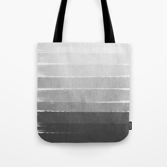 Brushstroke - Ombre Grey, Charcoal, minimal, Monochrome, black and white, trendy,  painterly art  Tote Bag