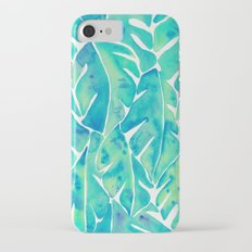 Split Leaf Philodendron – Turquoise Slim Case iPhone 7