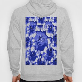 Roses Blue and White Toile #2 Hoody