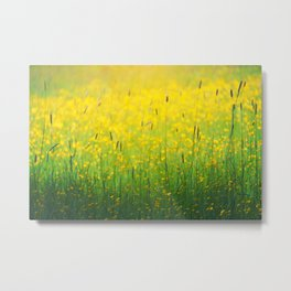 Field green yellow Metal Print