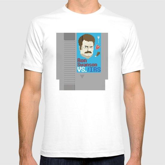 Ron Swanson VS. the IRS T-shirt