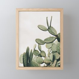 Cactus on blue sky #society6 #decor #buyart Framed Mini Art Print