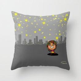 Beautiful City Night Throw Pillow