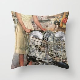 (Disco)unt Supermarket Throw Pillow