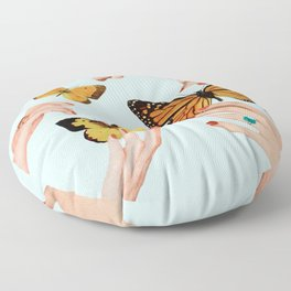 Social Butterflies Floor Pillow