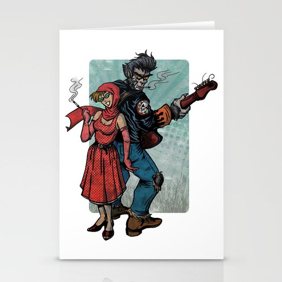 Ginny & Clutch (Little Red Riding Hood Reloaded) Stationery Cards