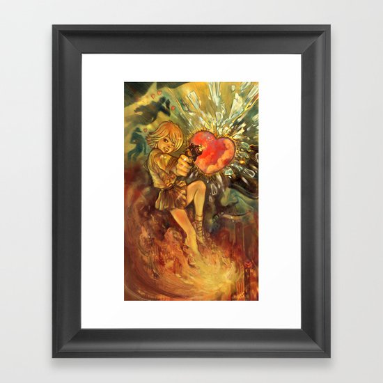 Straight to Your Heart! Framed Art Print