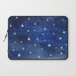 Midnight Stars Night Watercolor Painting by Robayre Laptop Sleeve