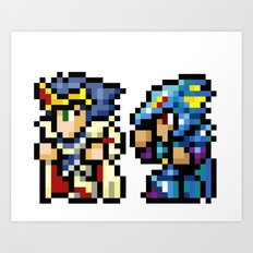 Final Fantasy II - Cecil and Kain Art Print