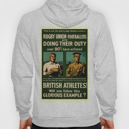 British rugby, football players call for duty Hoody