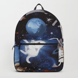 Cats on the Space Backpack