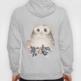 Boho Illustration- Be Wise Little Owl Hoody